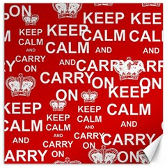 Keep Calm And Carry On Canvas 20  x 20