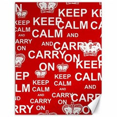 Keep Calm And Carry On Canvas 18  x 24