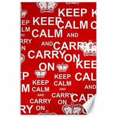 Keep Calm And Carry On Canvas 24  x 36