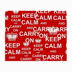 Keep Calm And Carry On Small Glasses Cloth (2 Side)
