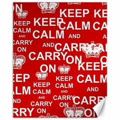Keep Calm And Carry On Canvas 11  x 14