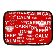 Keep Calm And Carry On Netbook Case (Medium)