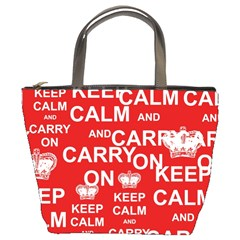 Keep Calm And Carry On Bucket Bags