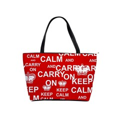 Keep Calm And Carry On Shoulder Handbags