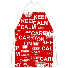 Keep Calm And Carry On Full Print Aprons