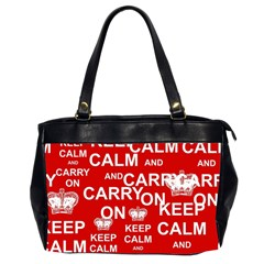 Keep Calm And Carry On Office Handbags (2 Sides)