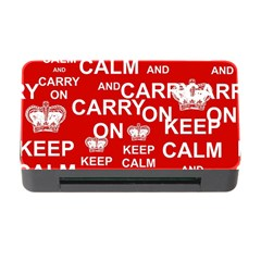 Keep Calm And Carry On Memory Card Reader with CF