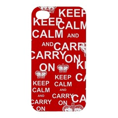 Keep Calm And Carry On Apple iPhone 4/4S Hardshell Case