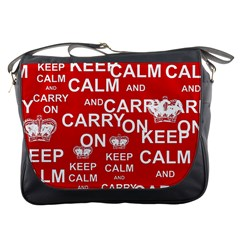 Keep Calm And Carry On Messenger Bags