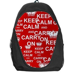 Keep Calm And Carry On Backpack Bag