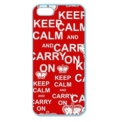 Keep Calm And Carry On Apple Seamless iPhone 5 Case (Color)