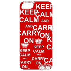 Keep Calm And Carry On Apple Iphone 5 Classic Hardshell Case