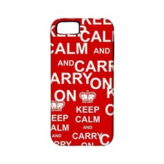 Keep Calm And Carry On Apple iPhone 5 Classic Hardshell Case (PC+Silicone)