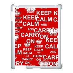 Keep Calm And Carry On Apple iPad 3/4 Case (White)