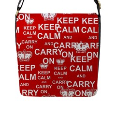 Keep Calm And Carry On Flap Messenger Bag (L)