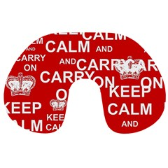 Keep Calm And Carry On Travel Neck Pillows