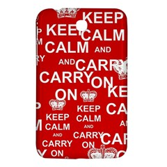 Keep Calm And Carry On Samsung Galaxy Tab 3 (7 ) P3200 Hardshell Case