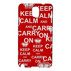 Keep Calm And Carry On Samsung Galaxy Note 3 N9005 Hardshell Case
