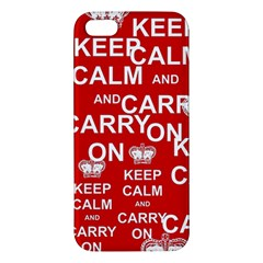 Keep Calm And Carry On iPhone 5S/ SE Premium Hardshell Case