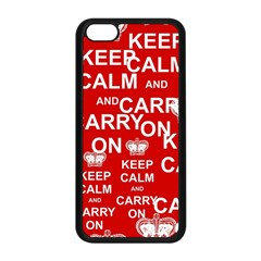 Keep Calm And Carry On Apple iPhone 5C Seamless Case (Black)