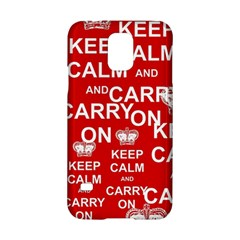 Keep Calm And Carry On Samsung Galaxy S5 Hardshell Case
