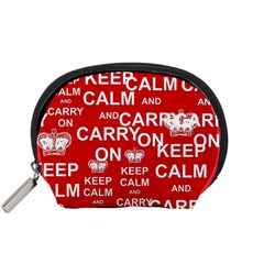 Keep Calm And Carry On Accessory Pouches (Small)