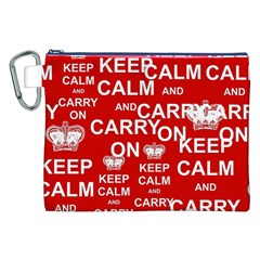 Keep Calm And Carry On Canvas Cosmetic Bag (XXL)
