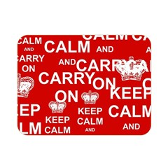 Keep Calm And Carry On Double Sided Flano Blanket (Mini)