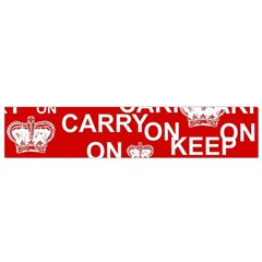 Keep Calm And Carry On Flano Scarf (Small)