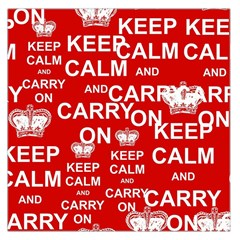Keep Calm And Carry On Large Satin Scarf (square)