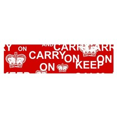 Keep Calm And Carry On Satin Scarf (oblong)