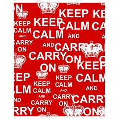 Keep Calm And Carry On Drawstring Bag (Small)