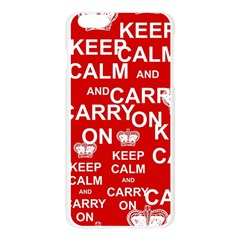 Keep Calm And Carry On Apple Seamless iPhone 6 Plus/6S Plus Case (Transparent)