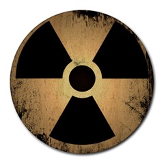 Radioactive Warning Signs Hazard Round Mousepads