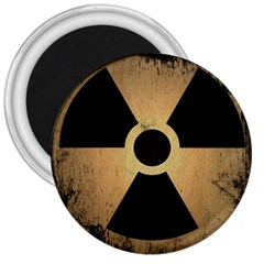 Radioactive Warning Signs Hazard 3  Magnets