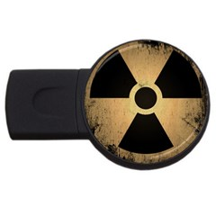 Radioactive Warning Signs Hazard USB Flash Drive Round (1 GB)