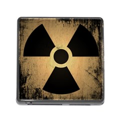 Radioactive Warning Signs Hazard Memory Card Reader (square)