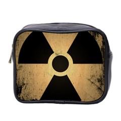Radioactive Warning Signs Hazard Mini Toiletries Bag 2 Side