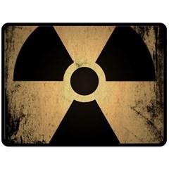 Radioactive Warning Signs Hazard Fleece Blanket (Large)