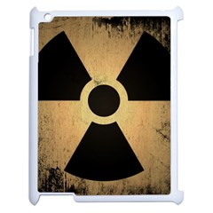 Radioactive Warning Signs Hazard Apple iPad 2 Case (White)