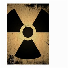 Radioactive Warning Signs Hazard Small Garden Flag (two Sides)