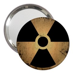 Radioactive Warning Signs Hazard 3  Handbag Mirrors