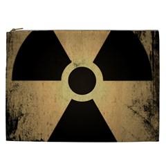 Radioactive Warning Signs Hazard Cosmetic Bag (XXL)