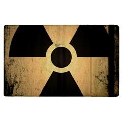 Radioactive Warning Signs Hazard Apple Ipad 3/4 Flip Case