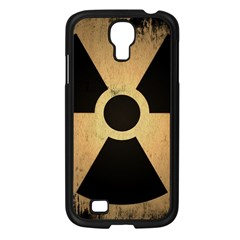 Radioactive Warning Signs Hazard Samsung Galaxy S4 I9500/ I9505 Case (Black)
