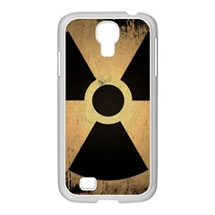 Radioactive Warning Signs Hazard Samsung GALAXY S4 I9500/ I9505 Case (White)
