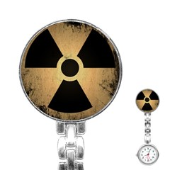 Radioactive Warning Signs Hazard Stainless Steel Nurses Watch