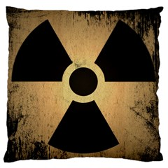 Radioactive Warning Signs Hazard Large Flano Cushion Case (One Side)