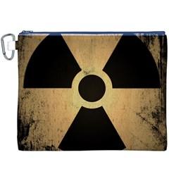 Radioactive Warning Signs Hazard Canvas Cosmetic Bag (xxxl)