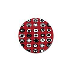 Circles Red Black White Golf Ball Marker (10 pack)